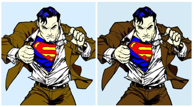 Superman Sketch Colored 2 by MojoBrown