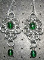 Chainmaille Earring 72 by Des804
