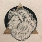 Lion on Gold by mikiayla97