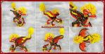 Magma dragon - FOR SALE by CuteDragonsAndMore