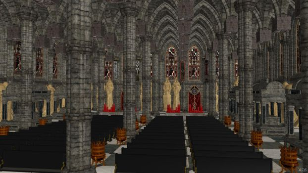 Cathedral Scenery - Space Hulk: Deathwing by Aequitas-Imperator