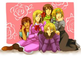 APH : France and Girls by Pinkalala