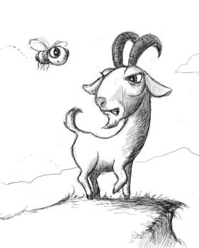 Goat and Fly by RustyScratchy