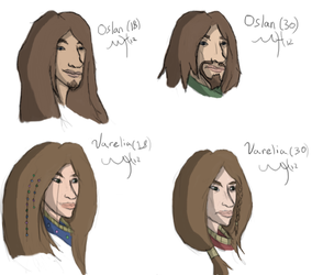 Character Portraits - Age comparisons by Markus-The-Madman