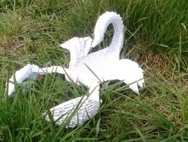 3D origami scorpio in grass by Michaelle111