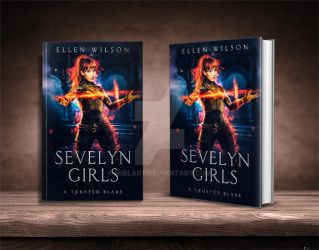 Sevelyn Girls book cover design by Miblart