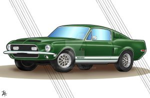 1968 Mustang GT500KR commission by TR1Byron