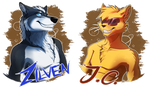 Badge: J.C. and N.Z. by FeysCat