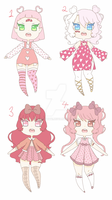 Valentine Adopt set [Open] 1/4 by yuki-white