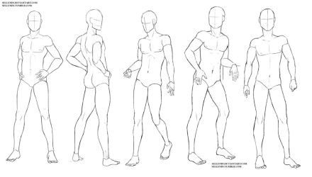 Male poses by Sellenin