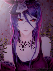 Rize from Tokyo Ghoul by JuneFanarts