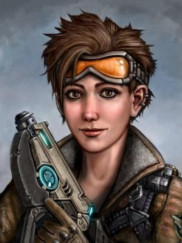 Overwatch - Tracer by SirTiefling