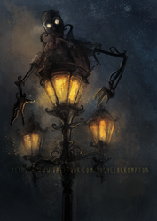 Mechanical Gaslamp by rosy-Clockomaton