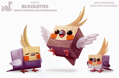 Daily Paint #2071. Blockatiel by Cryptid-Creations