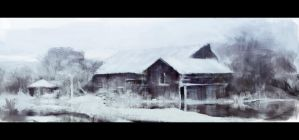 Winter farm by leventep