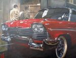 Christine garage by Tony-Lewis-artwork
