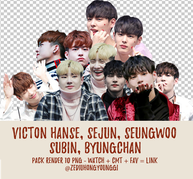 PACK PNG #5 - VICTON (no Seungsik and Heo Chan) by ZediuHongYoungGi
