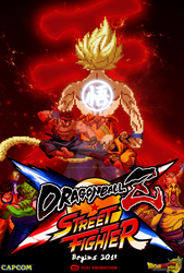 Crossover #1 Dragon Ball x Street Fighter Poster by DBSpriteFight
