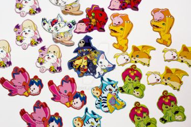 Digimon stickers by Lunsel