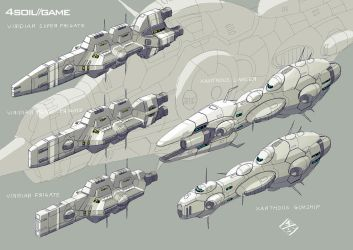 Viridian/Xanthous Frigate by 4-X-S