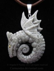 Celtic Stone Dragon pendant by carmendee