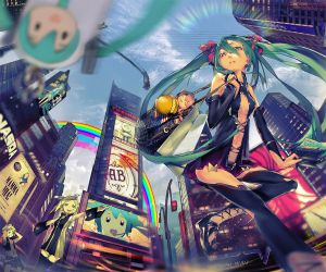 MIKU IN NEW YORK by DanEvan-ArtWork