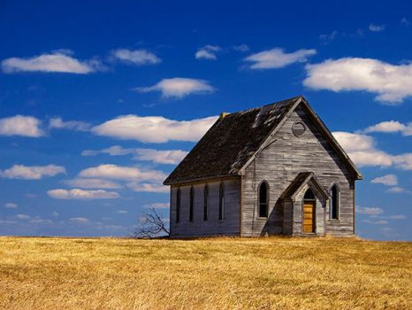 Little Church On The Prairie by WayneBenedet