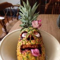 Zombie Luau Pineapple by kjas