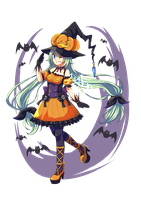 Adoptable auction: Pumpkin Witch [CLOSED] by ZylenXia