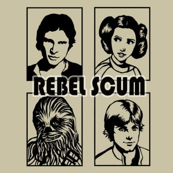 Rebel Scum - Star Wars T-shirt contest by ChristyTortland