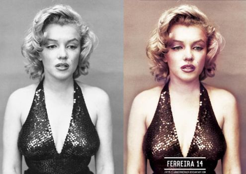 Marilyn Monroe Before And After by JoseFerreira14