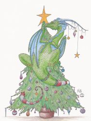 Christmas Tree Dragon by Scellanis