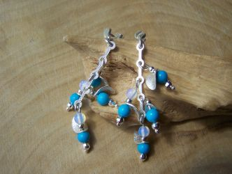 Ear rings turquoise by MadOnion1