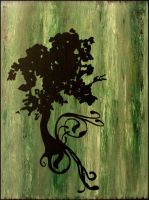 Growing Tree-Textured Painting by untitledlullabyx