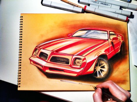 Trans am sketch by ALIDESING