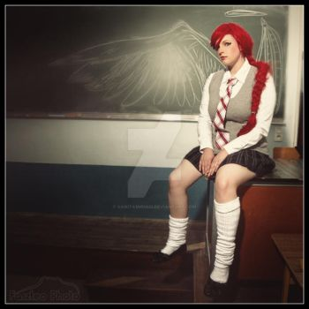 School girl are Angel by VanitasMundi