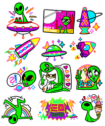 here's some ALIENS by neonUFO