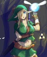 Female Link (legend of zelda) by lukesChillArt666