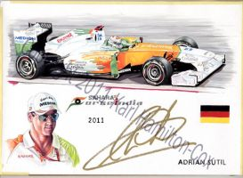 Adrian Sutil - Force India 2011 by karlhcox