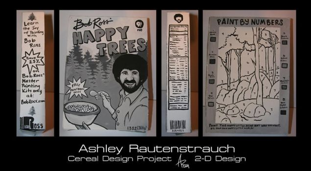 Bob Ross' Happy Trees Cereal by msfurious