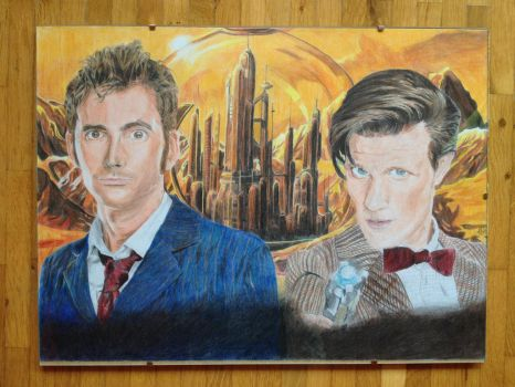 Drawing - The Doctor, Doctor Who by Lenadriel