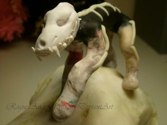Skull Dog on top of a skull! by RoguesAndGhosts