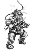 Diving Suit F by butterfrog