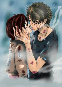SnK OC-Nasha and Tony-Goodbye by Asphil