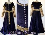 Velvet and Silk Medieval Gown For a Client by DaisyViktoria