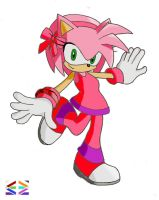 Amy Rose Colors costume by BioMetalNeo
