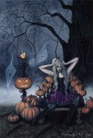 The Pumpkin Queen by ElvenstarArt