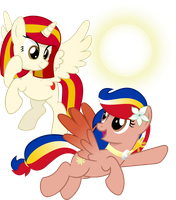 OC Vector - Poniko and Pearl Shine by jhayarr23