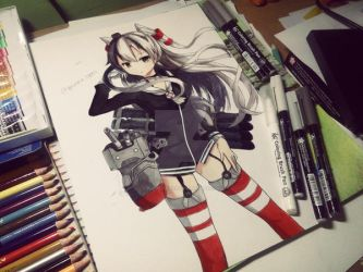 Amatsukaze by Elevenxixer
