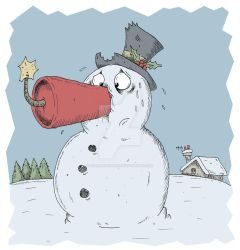 Snowman with Dynamite Nose 2011 by stuartmcghee